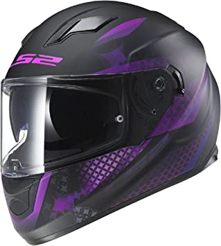 LS2 FF320 Stream Lux Ladies Casco Moto para Mujer Full Face casco, negro mate color