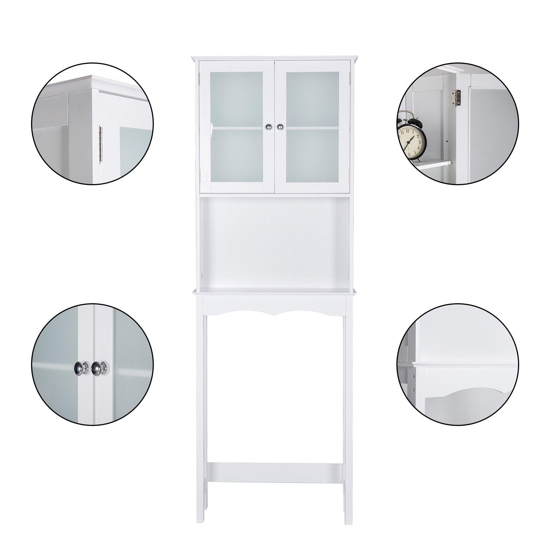 Kinbor 3 Shelf Over The Toilet Bathroom Space Saver, Cottage Collection Bathroom Spacesaver, White by Kinbor (Image #4)