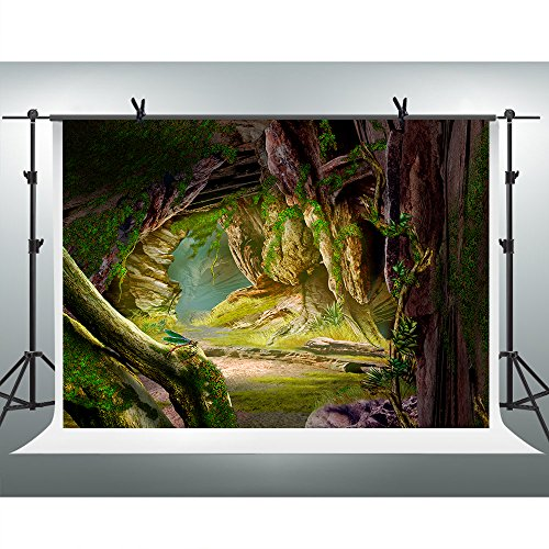FHZON 10x7ft Cave Valley Photography Backdrop Fantasy Background Themed Party YouTube Backdrop Photo Booth Studio Props WFH026