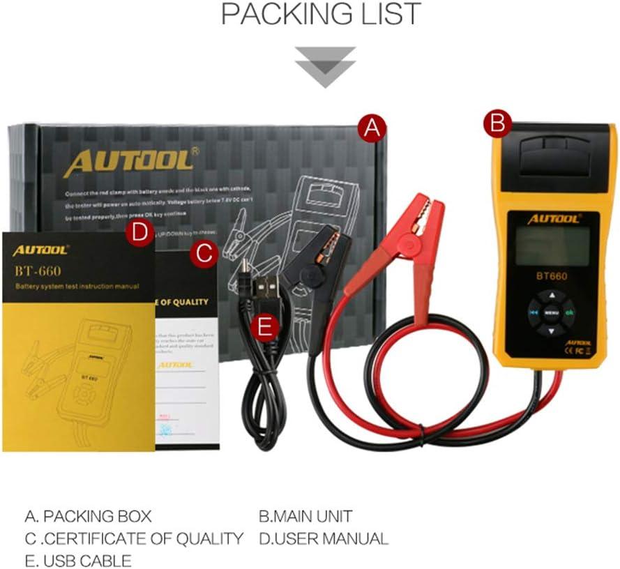 Autotool Testeur//analyseur de batterie de voiture BT660/12/V//24/V Testeur de conductance voitures. outils de diagnostic automobile pour poids-lourds camions l/égers