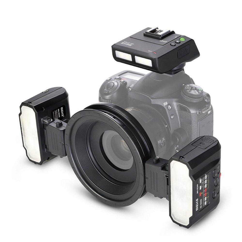 Meike MK-MT24N Nikonカメラ対応 マクロツインライト フラッシュランプ TTL ニコンデジタル一眼レフカメラ用   B07BHK3363