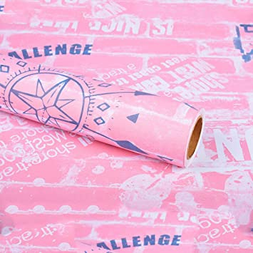 Lzymlg Moderne Wohnzimmer Wand Dekor Aufkleber Vinyl Selbstklebende Tapetenrolle Schlafsaal Mobel Renovierung Pvc Wasserdichte Folie Pink A Amazon De Baumarkt