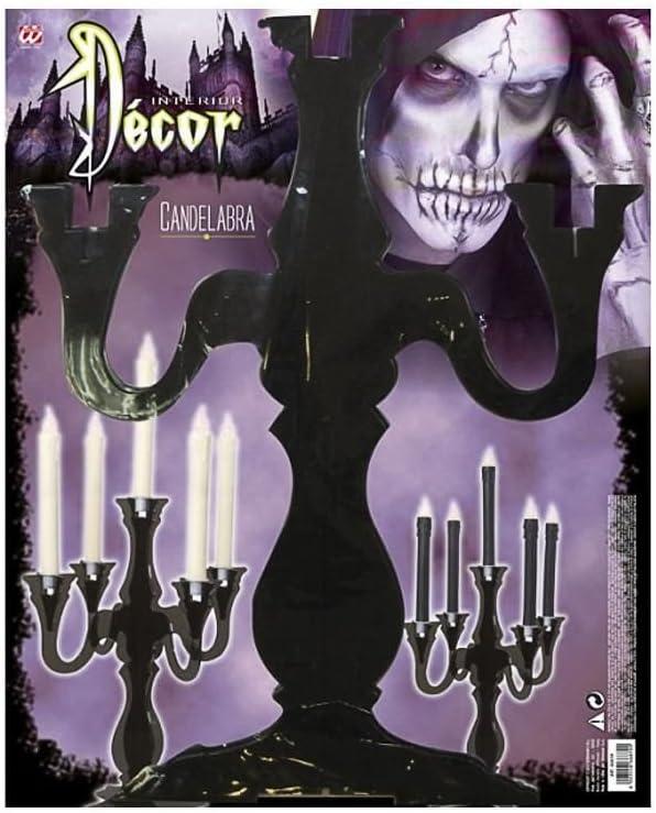 Horror-Shop Schwarzer Kerzenst/änder