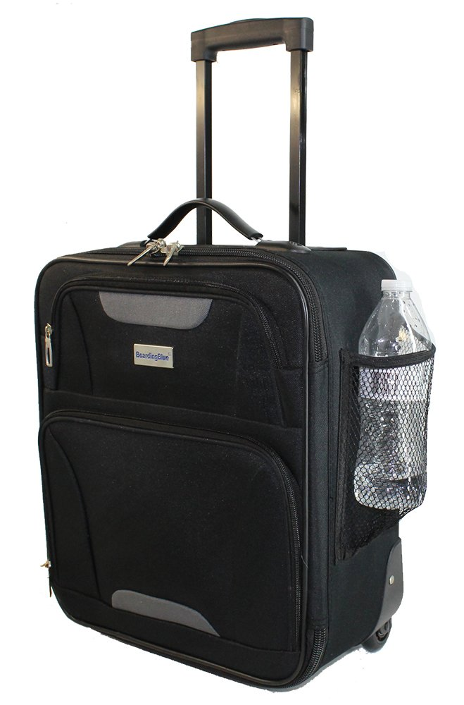 Boardingblue Airlines Personal Item Under Seat Basic Small Luggage 16.5 Black