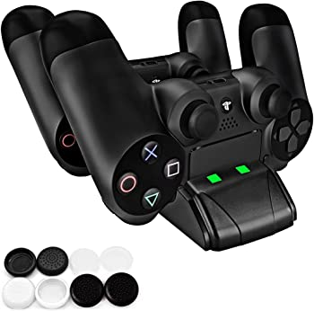Pecham DualShock 4 Dual PS4/PS4 Slim Controller Charging Station