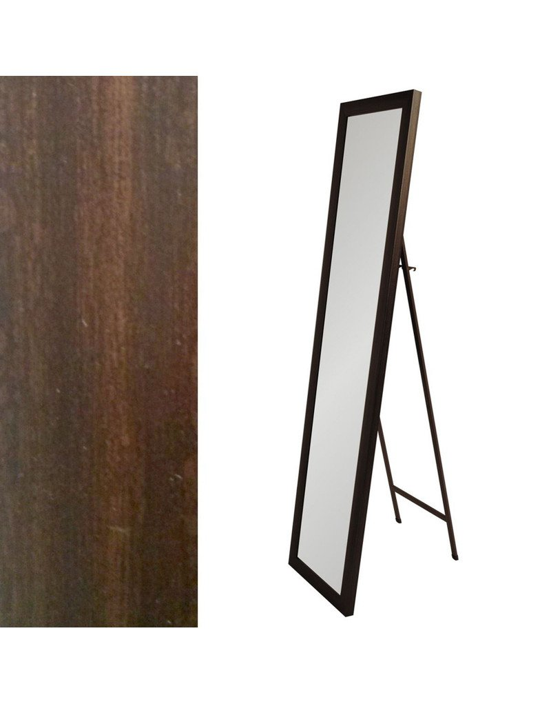 Home Line colore marrone del legno specchio Cheval (37x2x157)