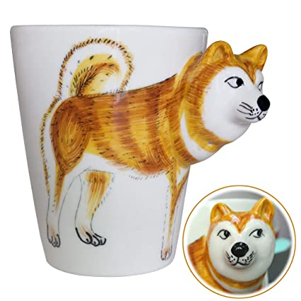 For Friendsshiba Tea amp;fly Inu Coffee Gift MugAnimals Hand CupCreative Personalized Lovers Dog 3d Wey Kids Painted rdBexCWo