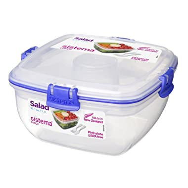 Sistema Lunch Collection Salad Food Storage Container, 37.1 oz