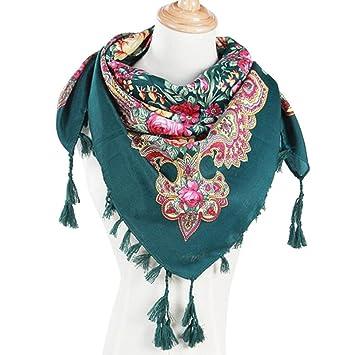 5ee50756abf7 Hunpta Mode Femme carré Tête Écharpe Wraps écharpes pour femmes Imprimé  foulards de cou, Green