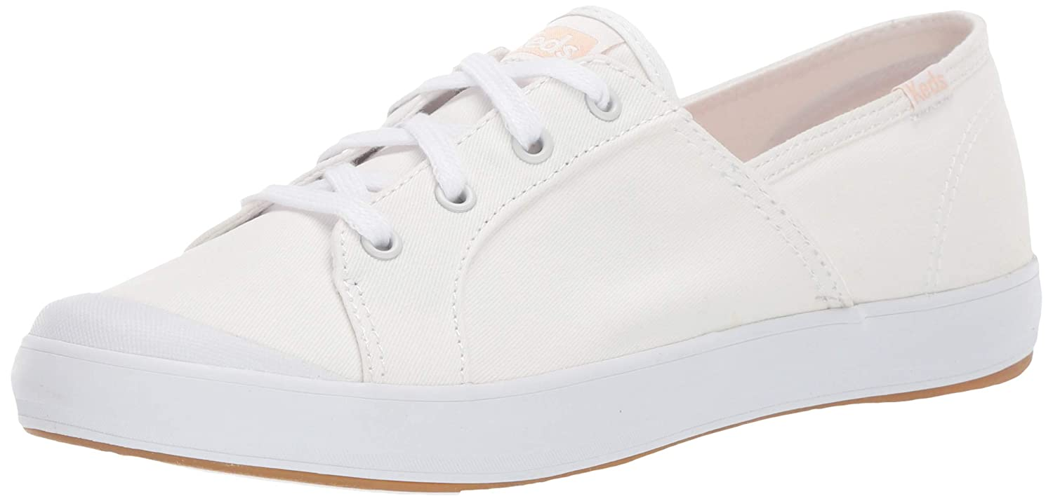 Sandy Washed Twill Sneaker, White