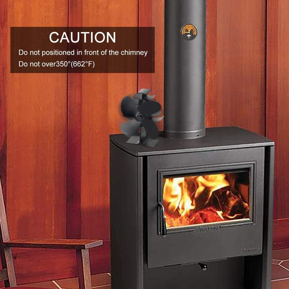 respetuoso con el medio ambiente quemador de le/ña//le/ña YINXN Ventilador de estufa de 5 aspas alimentado por calor circulaci/ón de calor para le/ña//quemador de le/ña//chimenea