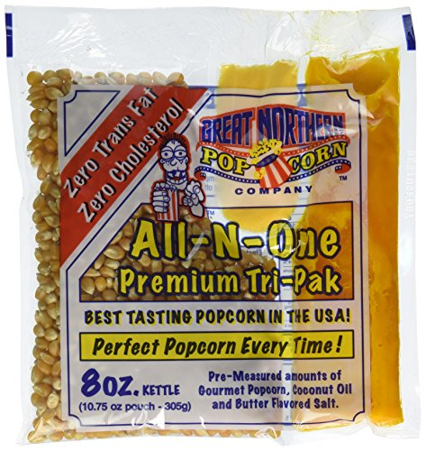 (4109 Great Northern Popcorn Premium 8 Ounce Popcorn Portion Packs, Case of 12)