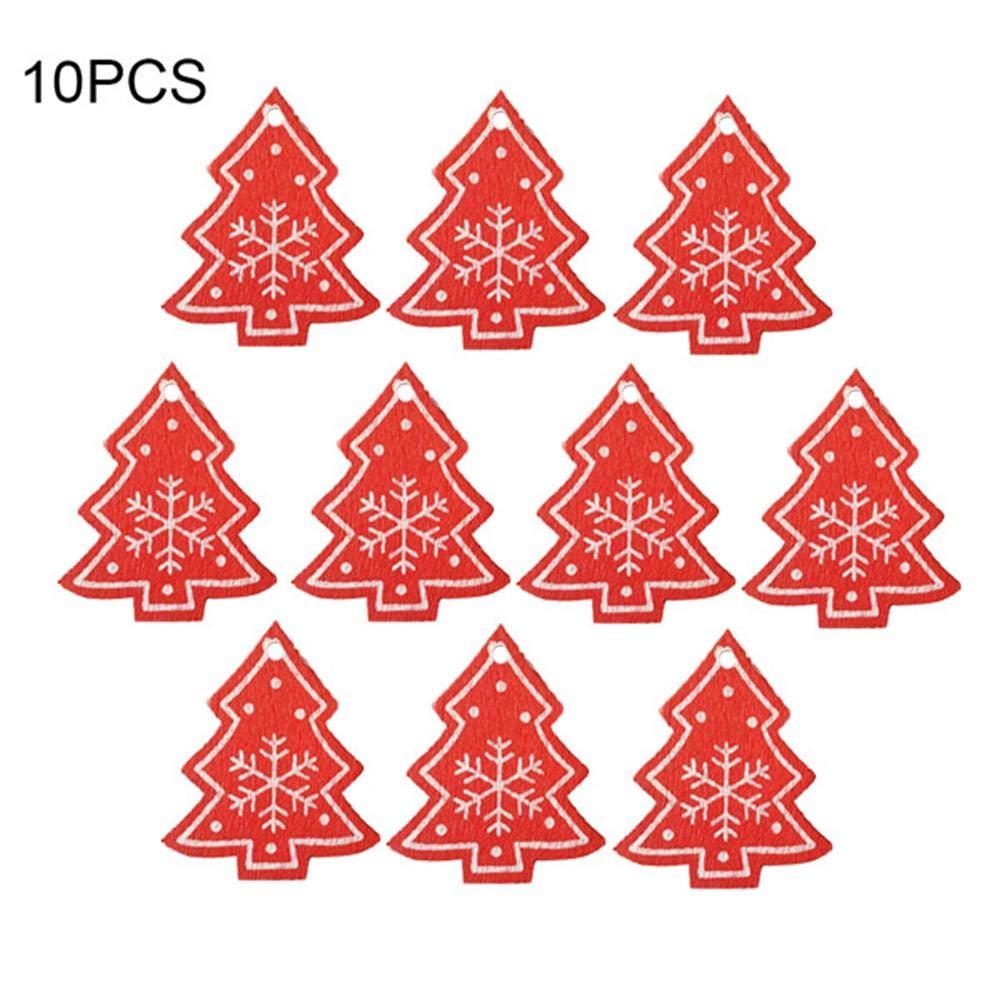Cheerfulus 10 Stk Weihnachten Deko Herz Form Anhanger