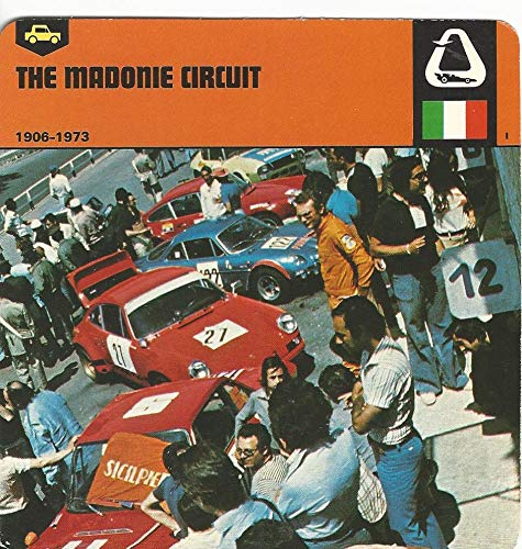(1978 Edito-Service, Automobile Rally Card, 57.17 The Madonie Circuit)