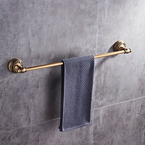 Yomiokla Bathroom Accessories - Kitchen, Toilet, Balcony and Bathroom Metal Towel Ring European Wall-Space Aluminum Antique Single Tier Antique Brushed 50CM