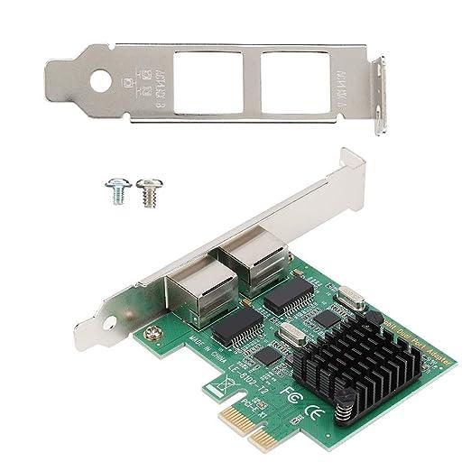 Furnoor Tarjeta de Red PCI-E de Doble Puerto Gigabit 2 * Tarjeta ...