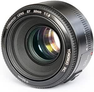 Yongnuo YN50MM Canon - Objetivo f/1.8 (46º, ø 52 mm), Color Negro ...