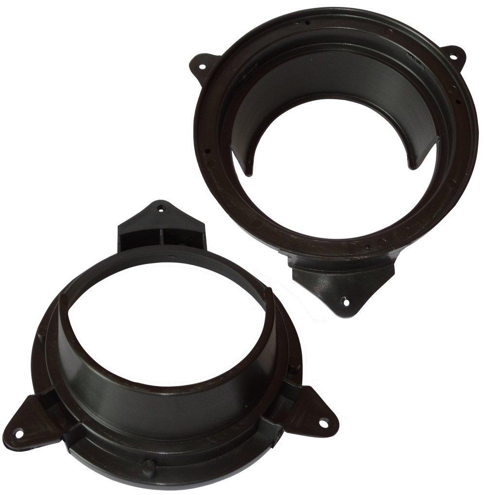 2 x Adaptadores soportes de altavoces 165mm para puerta trasera de coche vehiculos AERZETIX