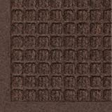 Andersen 280 Dark Brown Polypropylene Waterhog Fashion Entrance Mat, 27-Inch Length X 18-Inch Width, for Indoor/Outdoor