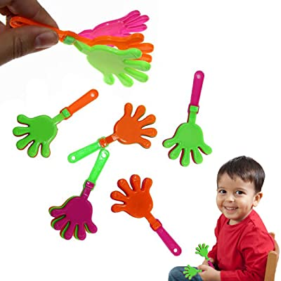 Dazzling Toys Perfect Party Favor or Prize 3.5 Inch Clapping Hands Pack of 48: Toys & Games