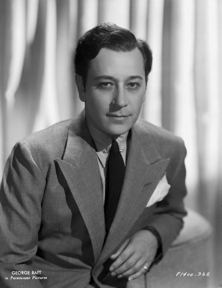 Posterazzi George Raft wearing Coat with Necktie Black and White Photo Print (8 x 10)