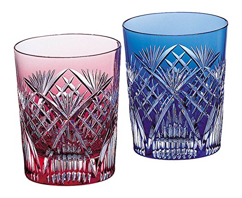 Edo-kiriko Old Fashioned Glasses Pair #2652 by Kagami-Cristalh