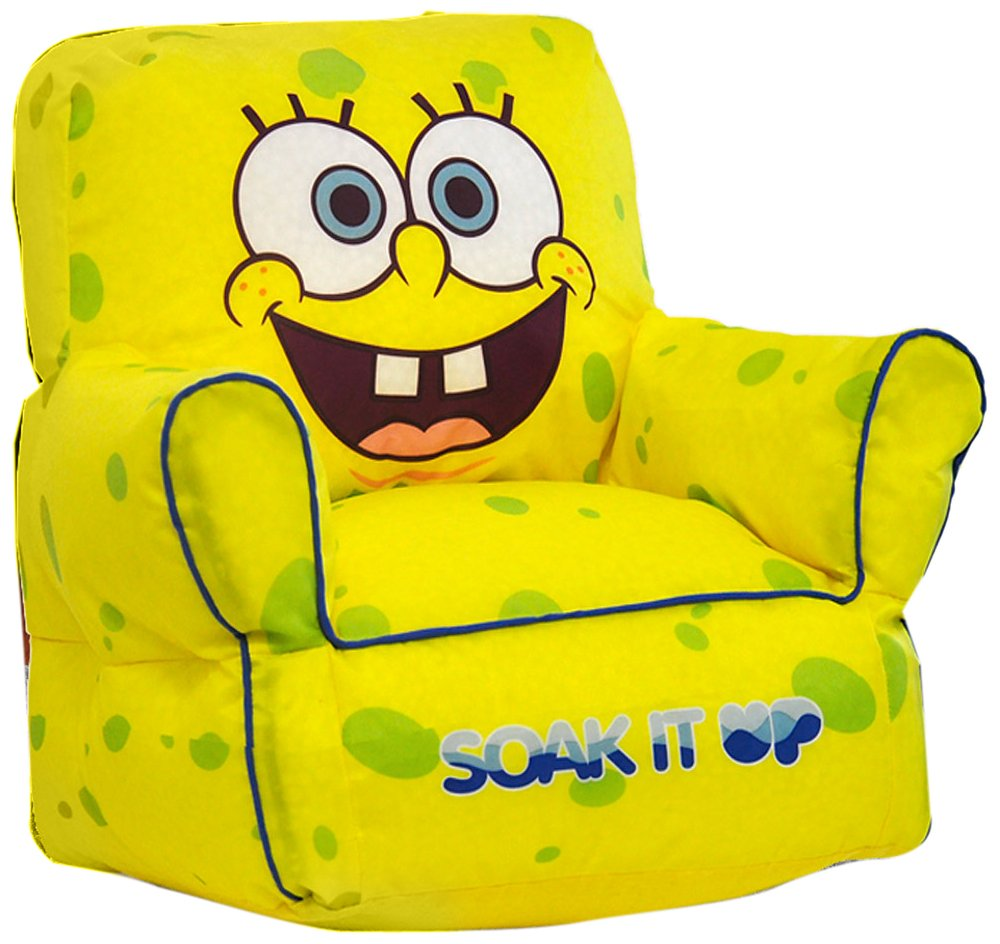 Amazon.com: Nickelodeon Spongebob Squarepants Bean Bag Sofa Chair: Toys U0026  Games