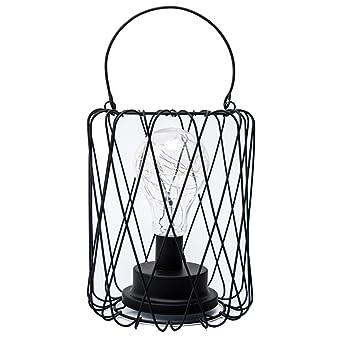 Lámpara de mesa de alambre LED Operado con pilas Metal vintage ...