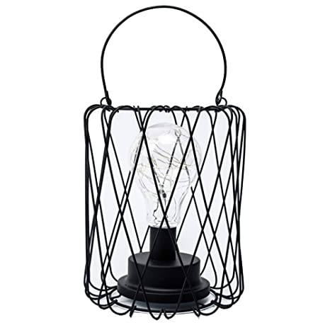 Lámpara de mesa de alambre LED Operado con pilas Metal ...