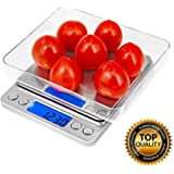 Liteway Prime Best Seller 500g/0.01g Digital Precision Pocket Scale Kitchen Lab Counting Scale with Trays,Comes with Two Batteries , 0.001oz Resolution