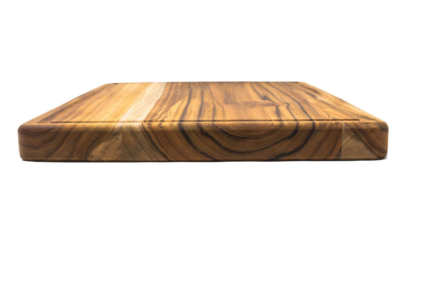 Large Reversible Teak Wood Cutting Board with Juice Groove - Hardwood Chopping Block and Serving Tray (17x11x1 Inches) by Do it wiser (Image #4)