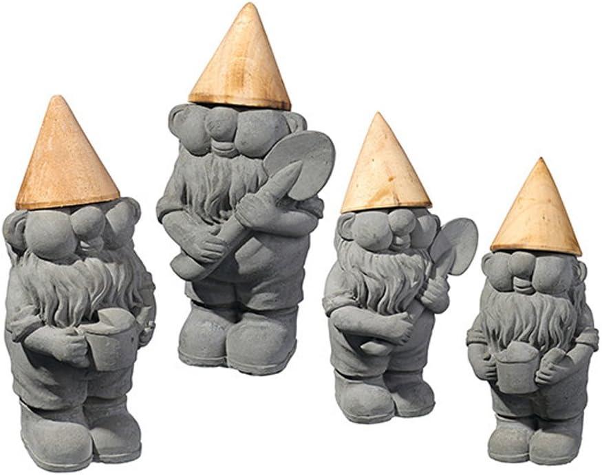 Grasslands Road Gnome Figurines, Set of 4