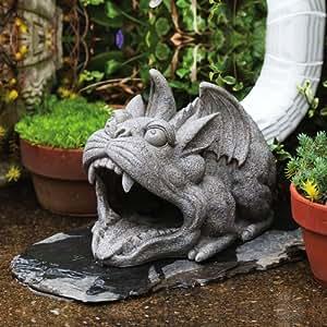 Gargoyle Statue Down Spout Cover Gutter Downspouts