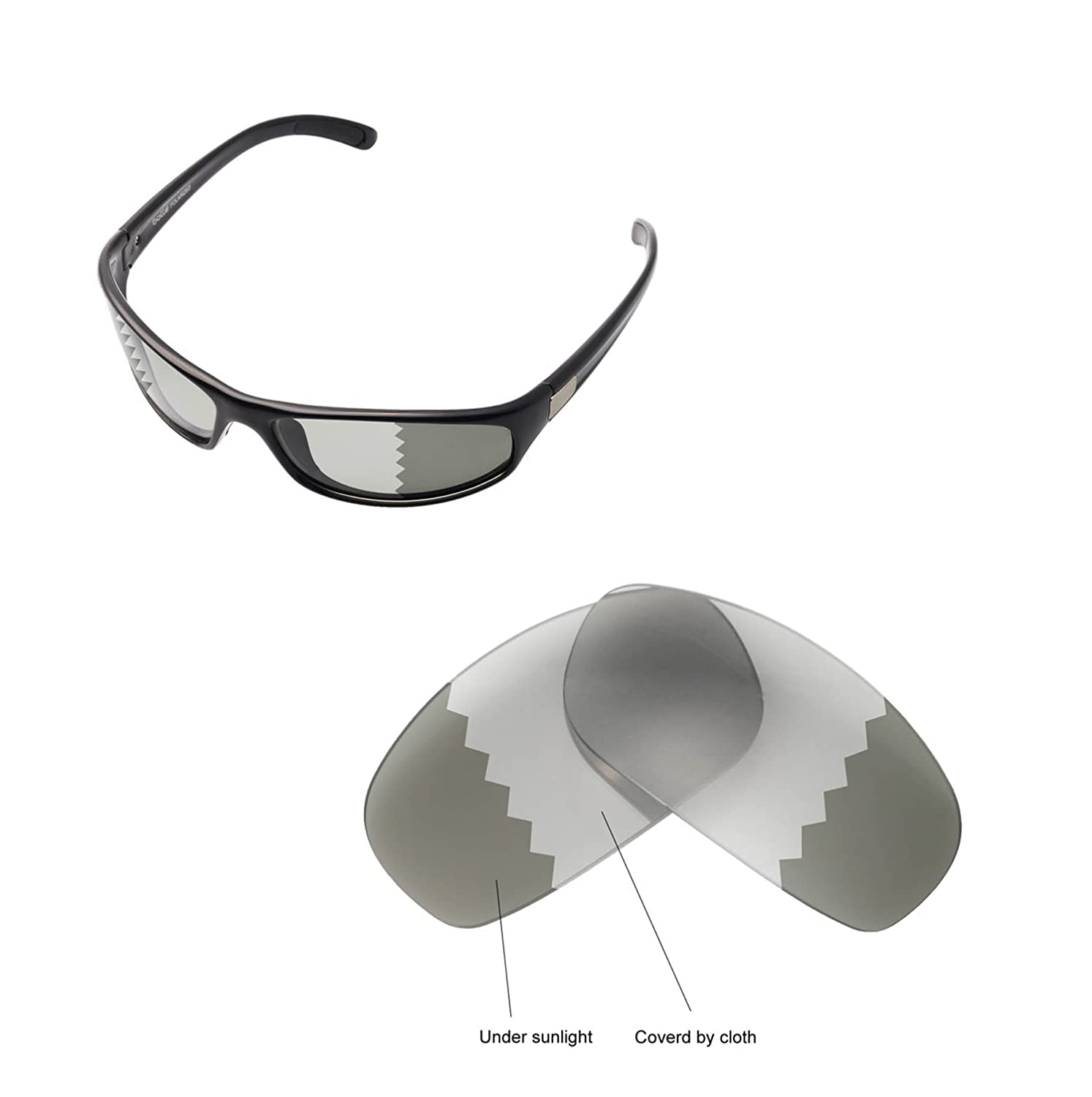 53db045f2c Walleva Replacement Lenses for Bolle Anaconda Sunglasses - Multiple Options  Available (Transition Photochromic - Polarized)