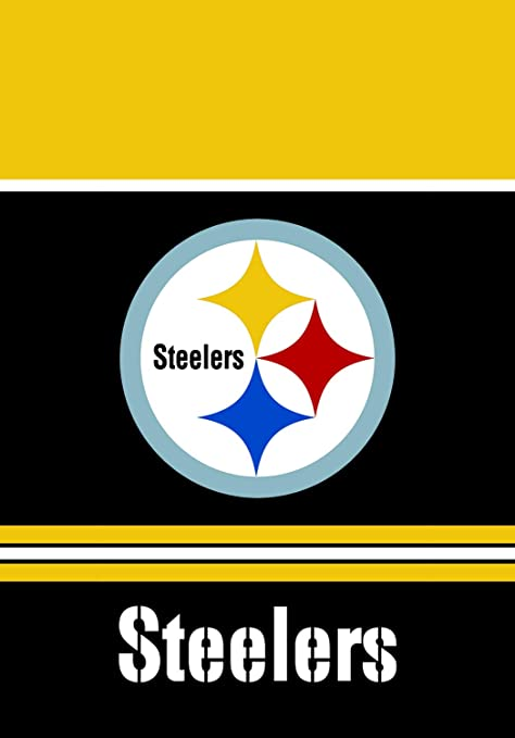 new product c5523 10e7a RongJ- store NFL Pittsburgh Steelers Double 2 Sided Garden House Champion  Flag
