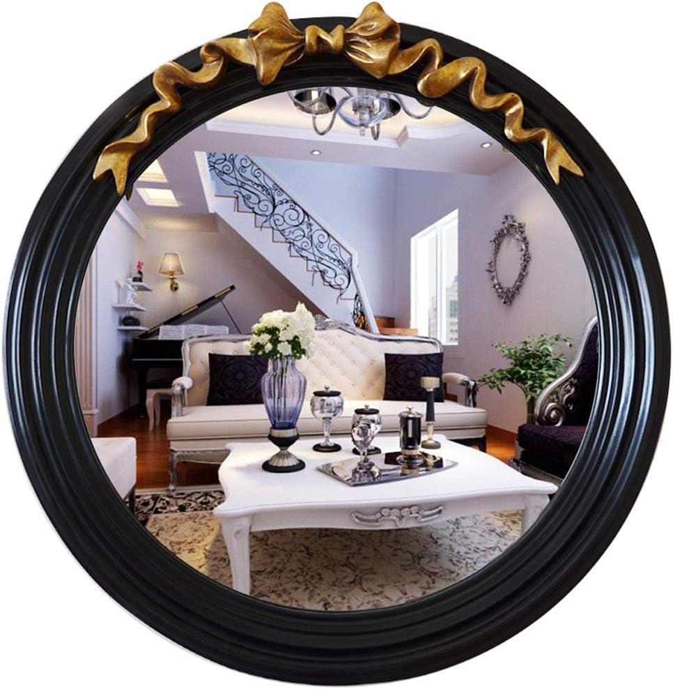 Amazon.de: GYX-Bathroom Mirror Runder Wandspiegel, Retro-Stil