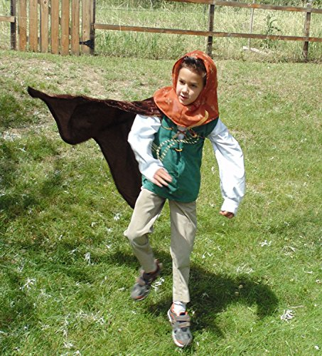 Boys 5-7 adjustable Robin Hood with doublet, cape, and hood by Fru Fru and Feathers Costumes & Gifts