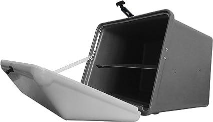 Portaequipajes Moto baúl Reparto Gris con Bandeja y Reflectantes homologados: Amazon.es: Coche y moto