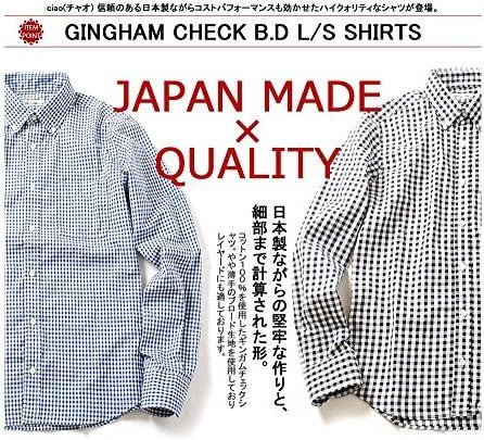 (チャオ) 日本製 ギンガムチェック ボタンダウン シャツ メンズ 長袖