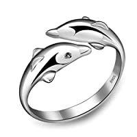 New Fashion 925 Sterling Silver Opening Adjustable Rings Gift New