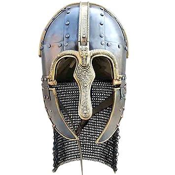 Yelmo Coppergate - Siglo VII, Recreación histórica, Cascos Medievales, Yelmo Medievales