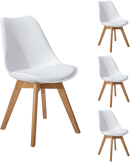 DORAFAIR Pack 4 sillas escandinava Estilo nórdico Silla de Comedor ...