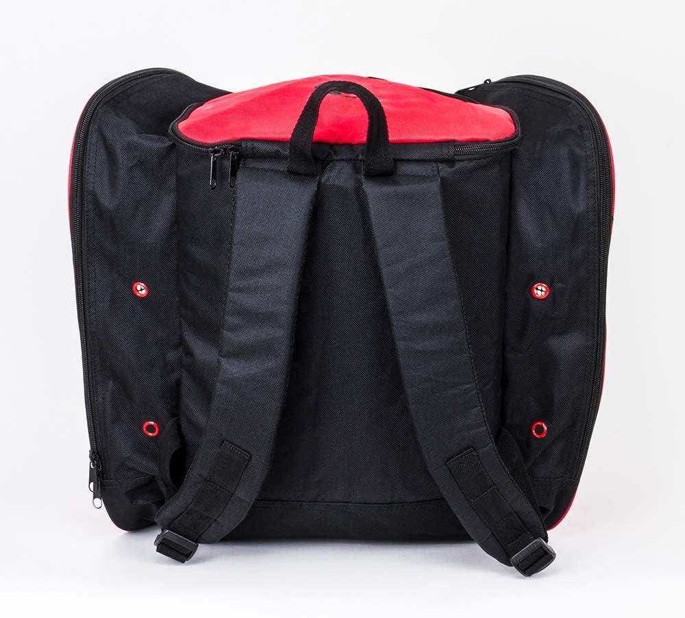 SFR Mochila para skate color negro y rojo