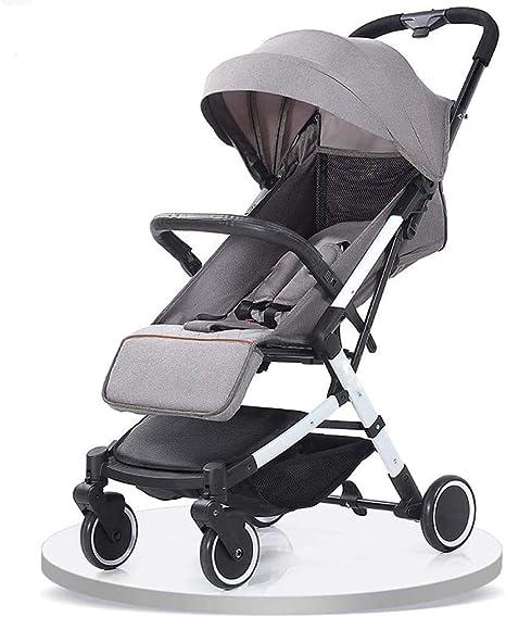 Opinión sobre OESFL Cochecito Cochecito for niños, cochecitos de bebé pequeño y cómodo, cochecitos portátiles plegables con Mango de Traslado, cochecito de bebé, paraguas plegable Silla de paseo (Color : Gray-a)