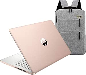 2021 HP 14 inch Touchscreen HD Laptop, Intel Celeron N4020 up to 2.8 GHz, 4GB DDR4, 64GB eMMC, WiFi 5, Webcam, HDMI, Windows 10 S /Legendary Accessories (Google Classroom or Zoom) (Rose Pink)