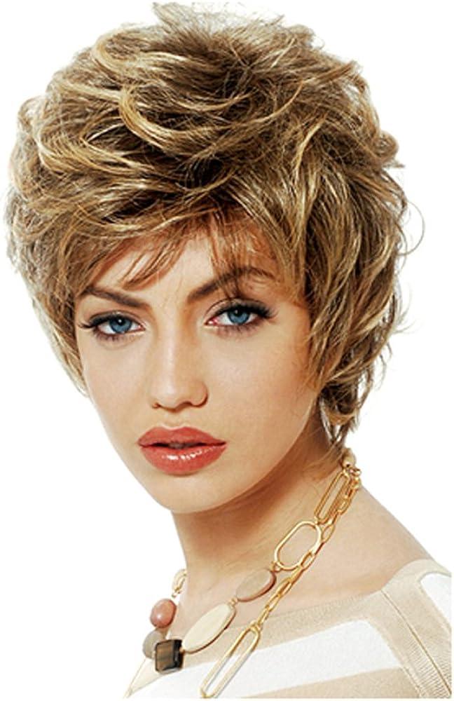 20cm Girls Fashion Short Loose Big Curly Hair Women Cosplay Wig Golden 617kQzEfpWL