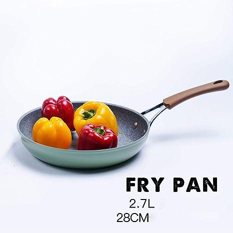 DWUN [96 Cocina Olla, Wok hogar, sartenes Maifan Piedra Antiadherente Pan Steak sartén