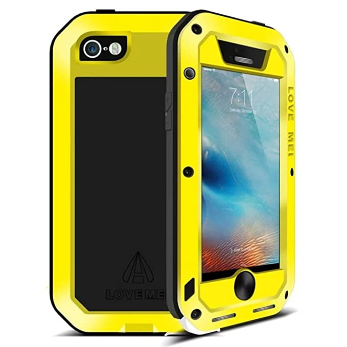 best sneakers a44cb 565c0 Iphone 6s Waterproof case, Feitenn Armor Aluminum Metal Carbon Fiber  Gorilla Glass Heavy Duty Shockproof Protection Case for iphone 6/Iphone 6s  ...