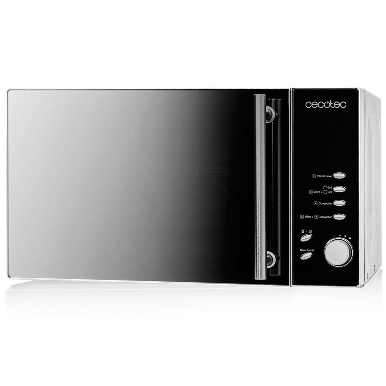 Microondas con horno de 23 l. Integramente de acero inoxidable y con espejo. Input