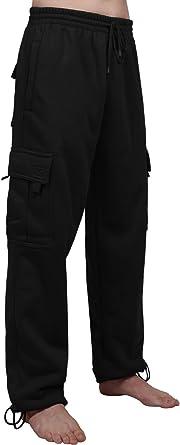 NE PEOPLE Mens Active Comfy Workout Gym Elastic Drawstring Fleece Cargo Sweat Shorts M-7XL
